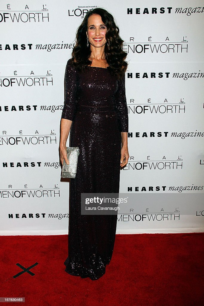 Andie MacDowell attends the 7th annual Women Of Worth Awards at Hearst Tower on December 6, 2012 in New York City.