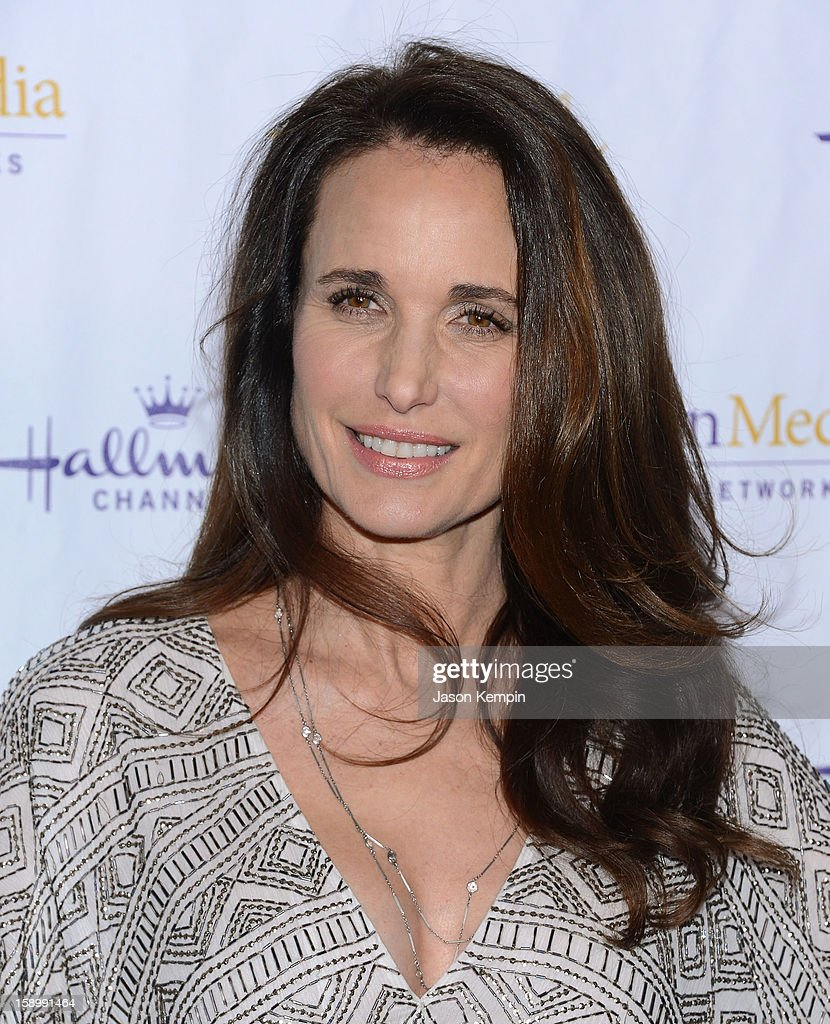 Andie MacDowell attends the Hallmark Channel and Hallmark Movie Channel's '2013 Winter TCA' Press Gala at The Huntington Library and Gardens on January 4, 2013 in San Marino, California.