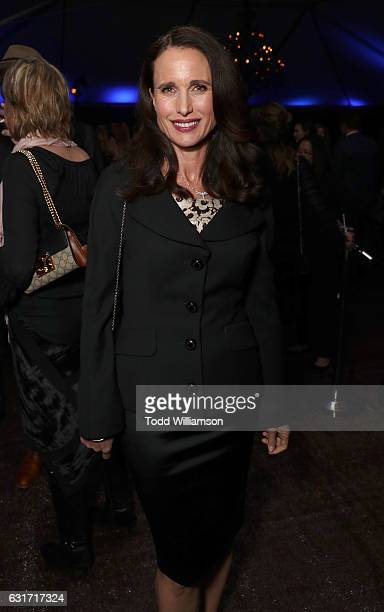 Andie MacDowell attends the Hallmark Channel And Hallmark Movies And Mysteries Winter 2017 TCA Press Tour at The Tournament House on January 14 2017...