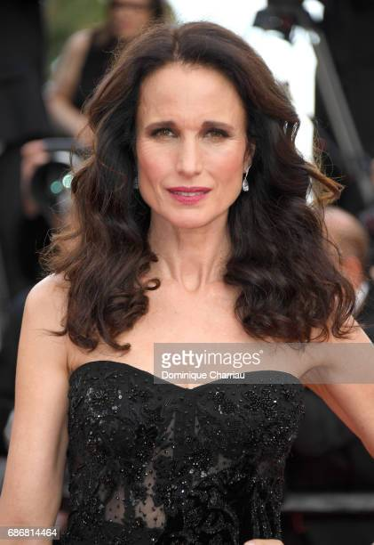 Andie MacDowell attends 'The Killing Of A Sacred Deer' premiere during the 70th annual Cannes Film Festival at Palais des Festivals on May 22 2017 in...