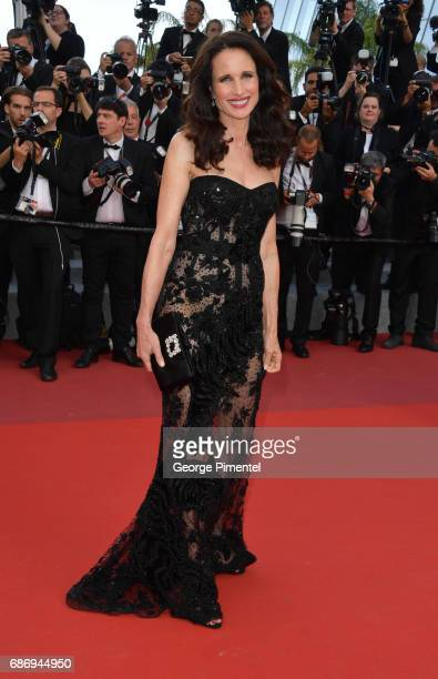 Andie MacDowell attends 'The Killing Of A Sacred Deer' screening during the 70th annual Cannes Film Festival at Palais des Festivals on May 22 2017...