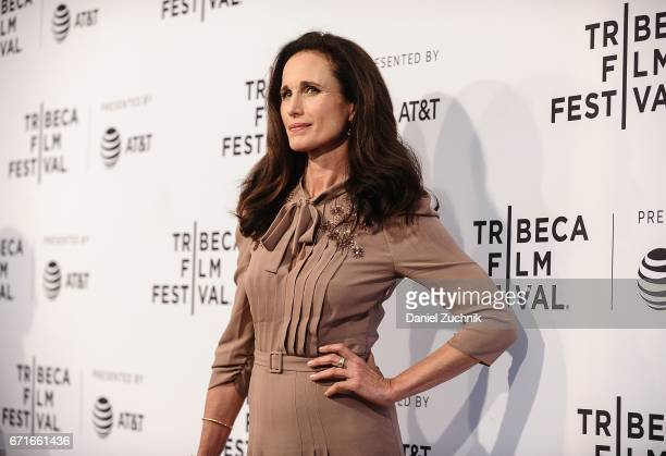 Andie MacDowell attends the 'Love After Love' premiere during the 2017 Tribeca Film Festival at SVA Theatre on April 22 2017 in New York City