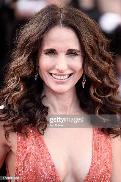 Andie MacDowell attends the Premiere of 'Inside Out' during the 68th annual Cannes Film Festival on May 18 2015 in Cannes France
