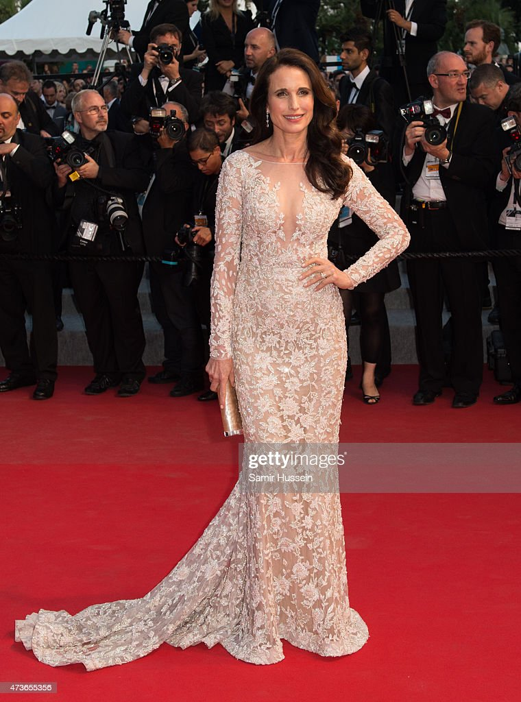 Andie MacDowell attends 'The Sea Of Trees' Premiere during the 68th annual Cannes Film Festival on May 16 2015 in Cannes France