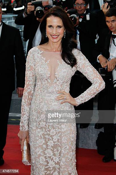 Andie MacDowell attends the 'Sea Of Trees' premiere during the 68th annual Cannes Film Festival on May 16 2015 in Cannes France