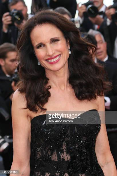 Andie MacDowell attends the 'The Killing Of A Sacred Deer' screening during the 70th annual Cannes Film Festival at Palais des Festivals on May 22...