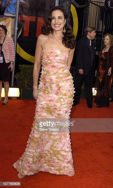 Andie MacDowell during 10th Annual Screen Actors Guild Awards Arrivals at Shrine Auditorium in Los Angeles California United States