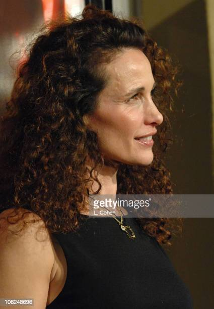 Andie MacDowell during 'Dreamgirls' Los Angeles Premiere Red Carpet at Wilshire Theater in Los Angeles California United States