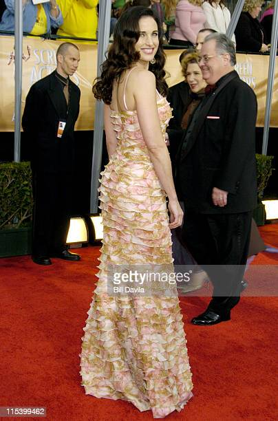 Andie MacDowell during The 10th Annual Screen Actors Guild Awards Arrivals at The Shrine Auditorium in Los Angeles California United States