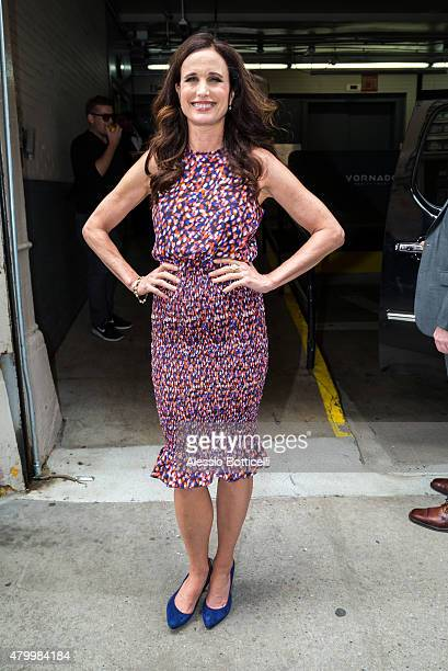 Andie MacDowell is seen at Huff Post Live on July 8 2015 in New York City