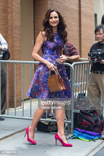 Andie MacDowell is seen at 'The View' on July 8 2015 in New York City