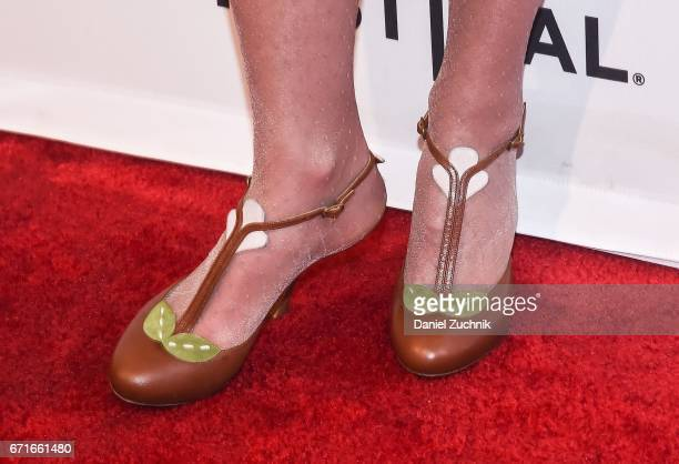 Andie MacDowell shoes detail attends the 'Love After Love' premiere during the 2017 Tribeca Film Festival at SVA Theatre on April 22 2017 in New York...