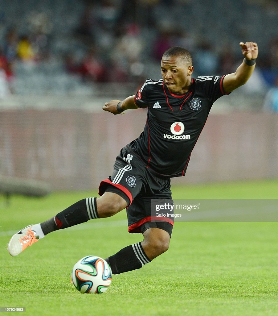 Andile Jali during the Absa Premiership match between Orlando Pirates and University of Pretoria at Orlando Stadium on December 19, 2013 in Soweto, South Africa.