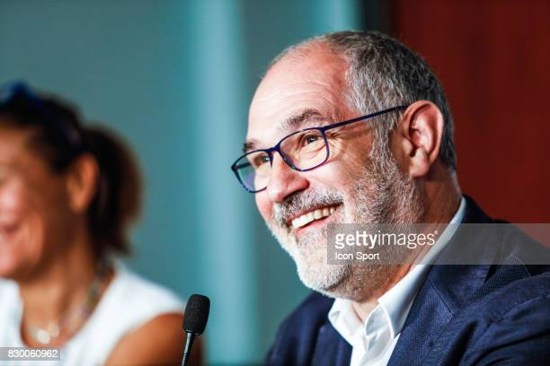 Andoni Zubizarreta of Marseille during press conference of Olympique de Marseille on August 10 2017 in Marseille France