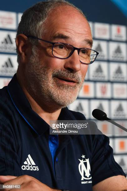 Andoni Zubizarreta Sports Director during press conference on August 30 2017 in Marseille France
