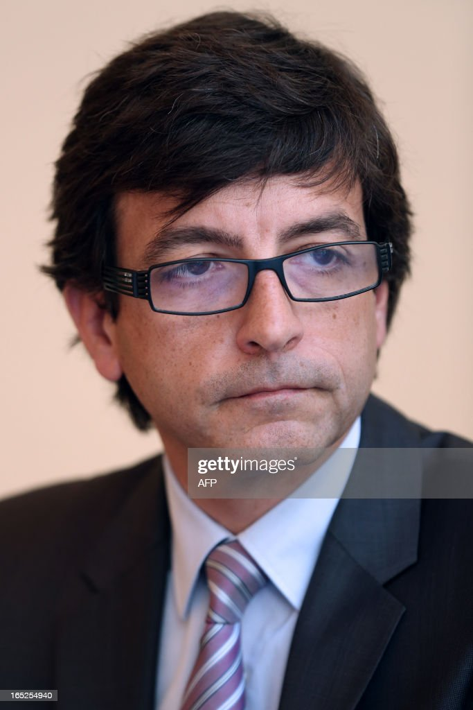 Andorra's Economy minister Jordi Cinca is pictured prior to sign a bilateral tax convention between France and Andorra, on April 2, 2013 at the Economy ministry in Paris.