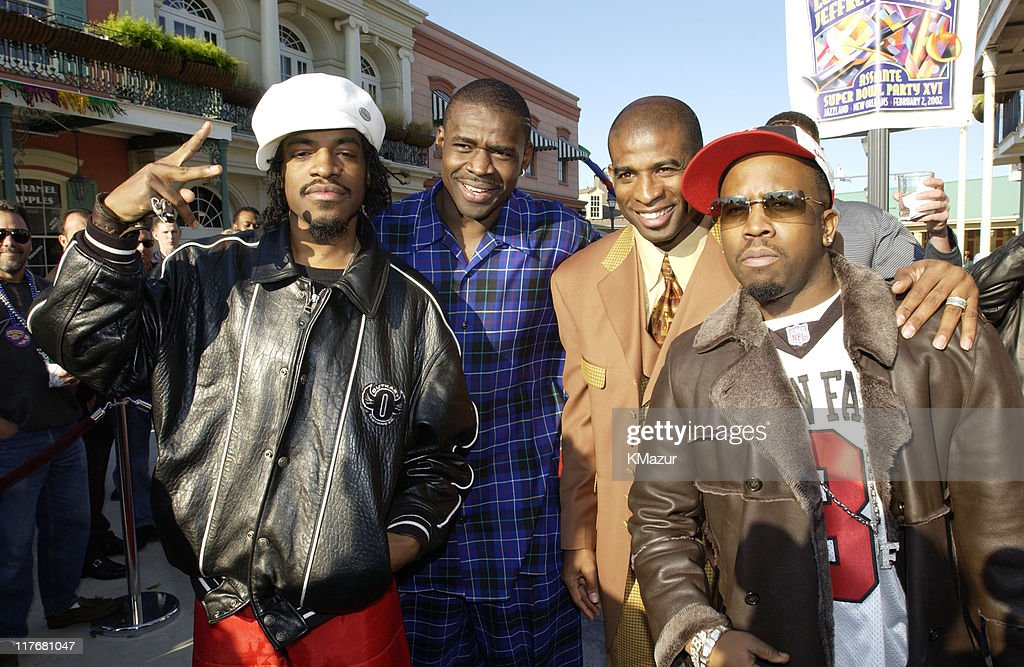 André 3000 of OutKast, <a gi-track='captionPersonalityLinkClicked' href=/galleries/search?phrase=Michael+Irvin&family=editorial&specificpeople=218074 ng-click='$event.stopPropagation()'>Michael Irvin</a>, <a gi-track='captionPersonalityLinkClicked' href=/galleries/search?phrase=Deion+Sanders&family=editorial&specificpeople=202222 ng-click='$event.stopPropagation()'>Deion Sanders</a>, and <a gi-track='captionPersonalityLinkClicked' href=/galleries/search?phrase=Big+Boi&family=editorial&specificpeople=202898 ng-click='$event.stopPropagation()'>Big Boi</a> of OutKast
