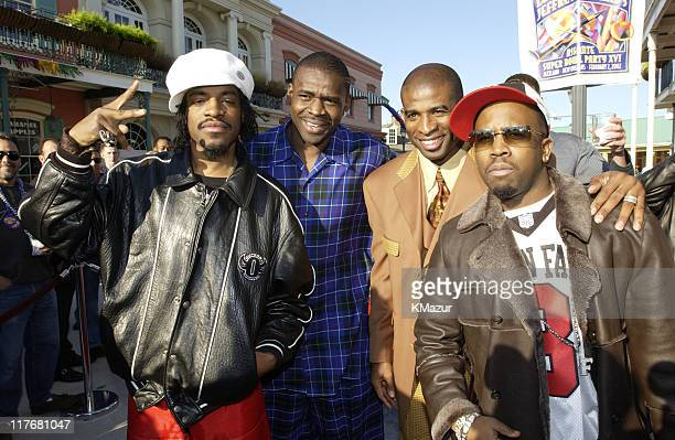 André 3000 of OutKast Michael Irvin Deion Sanders and Big Boi of OutKast