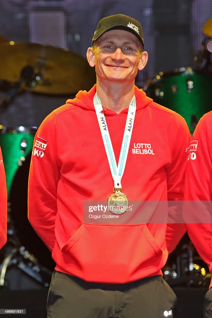 - André GREIPEL attends the opening ceremony of the 50th Presidential Cycling Tour at Alanya in the Mediterranean resorty city April 26, 2014 in Antalya, Turkey. The Tour which will be held between April 27 and May 4 in Turkey.
