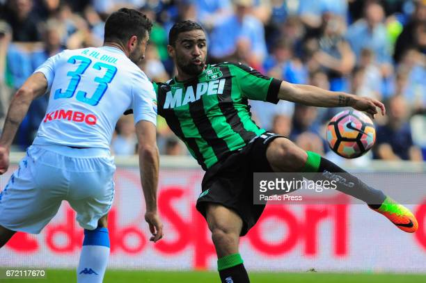 André Grégoire Defrel Sassuolo's forward of French nationality during the serie A football match between US Sassuolo Calcio and SSC Napoli at Mapei...