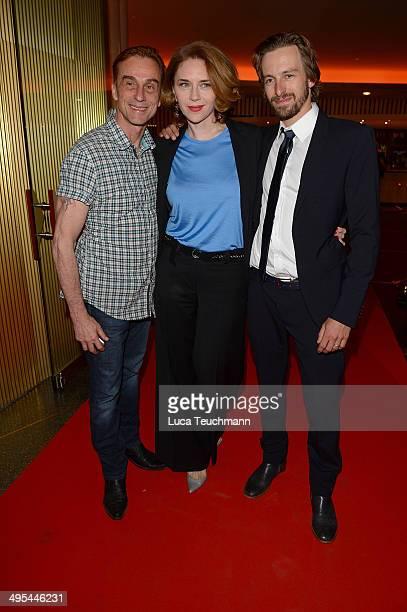Andr Hennicke Valentina Sauca and Benedikt Blaskovic attend 'Harms' Berlin Premiere at Zoo Palast on June 3 2014 in Berlin Germany