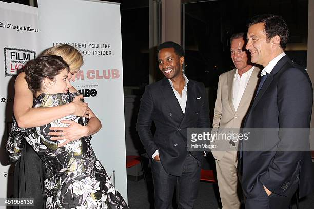 Andr Holland Grainger Hines Eve Hewson Juliet Rylance and Clive Owen attend the New York Times/Film Independent Screening Of 'The Knick' at LACMA on...
