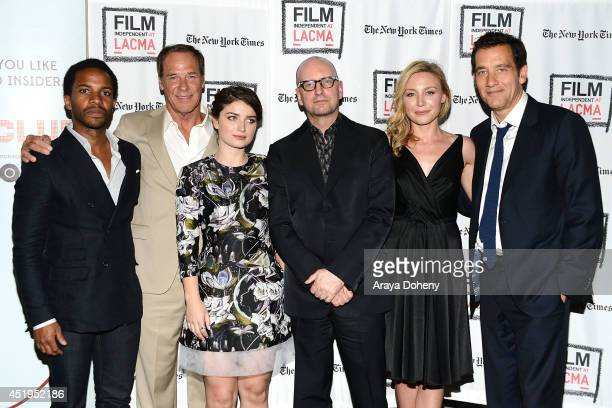Andr Holland Grainger Hines Eve Hewson Steven Soderbergh Juliet Rylance and Clive Owen attend the Film Independent screening and QA of 'The Knick' at...