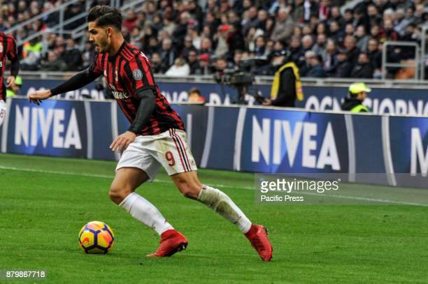 André Silva of AC Milan during Italian serie A match AC Milan vs Torino FC at San Siro Stadium The Italian Serie A match between AC Milan and Torino...