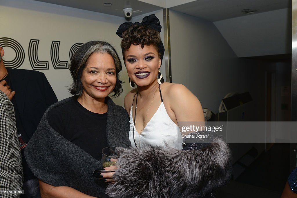 Andra Day and Apollo Theater Presodent & CEO Jonelle Procope at The Apollo Theater on October 22, 2016 in New York City.