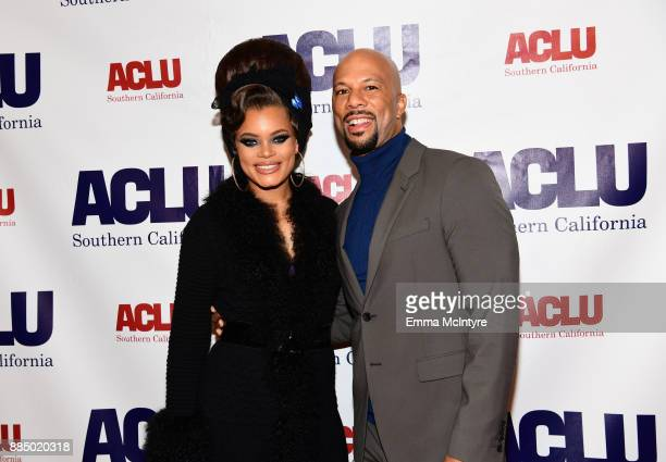 Andra Day and Common attend ACLU SoCal Hosts Annual Bill of Rights Dinner at the Beverly Wilshire Four Seasons Hotel on December 3 2017 in Beverly...