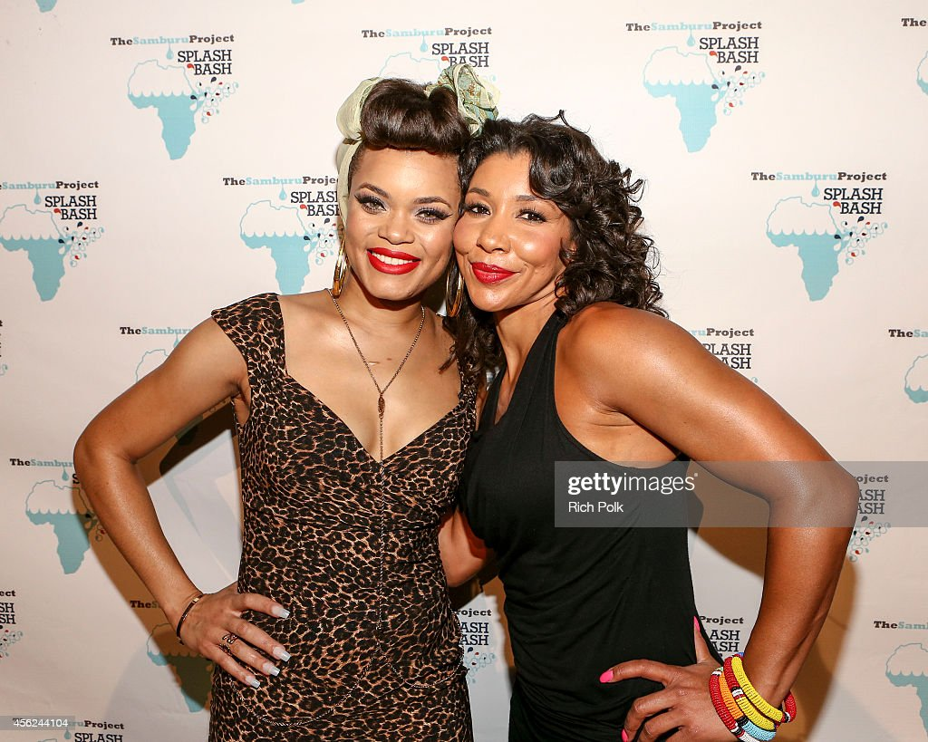Andra Day and Jeanette Jenkins attend the Samburu Splash Bash Event on September 27 2014 in Santa Monica California