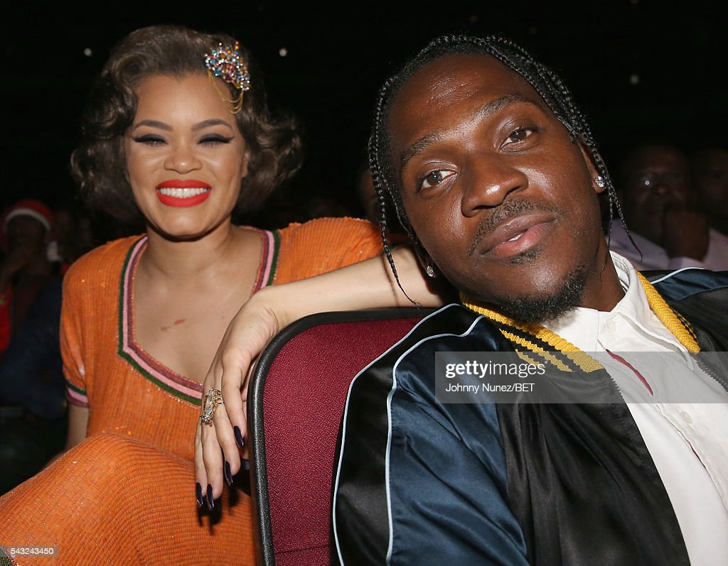 <a gi-track='captionPersonalityLinkClicked' href=/galleries/search?phrase=Andra+Day&family=editorial&specificpeople=10196811 ng-click='$event.stopPropagation()'>Andra Day</a> (L) and rapper <a gi-track='captionPersonalityLinkClicked' href=/galleries/search?phrase=Pusha+T&family=editorial&specificpeople=3994271 ng-click='$event.stopPropagation()'>Pusha T</a> attend the 2016 BET Awards at the Microsoft Theater on June 26, 2016 in Los Angeles, California.