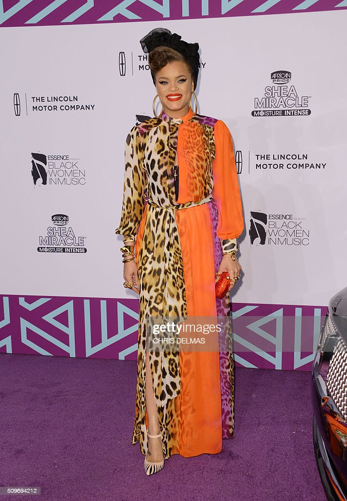 Andra Day arrives at the 7th Annual Black Women In Music Concert, an Essence Kicks Off Grammy Week-end event, in Hollywood, California, February 11, 2016 / AFP / CHRIS DELMAS