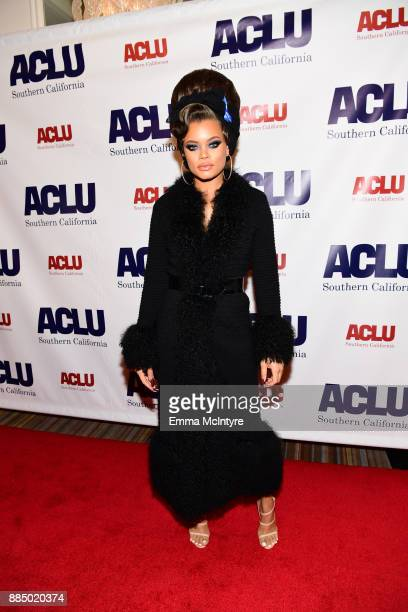 Andra Day attends ACLU SoCal Hosts Annual Bill of Rights Dinner at the Beverly Wilshire Four Seasons Hotel on December 3 2017 in Beverly Hills...