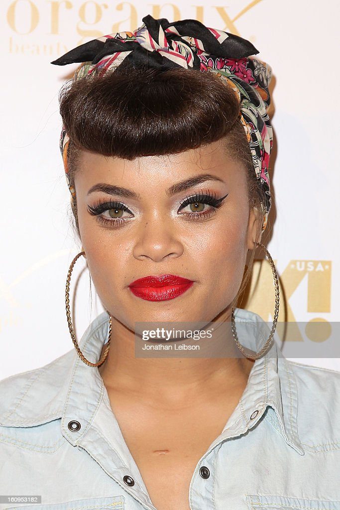 Andra Day attends the OK! Magazine Pre-GRAMMY Party at Sound on February 7, 2013 in Hollywood, California.