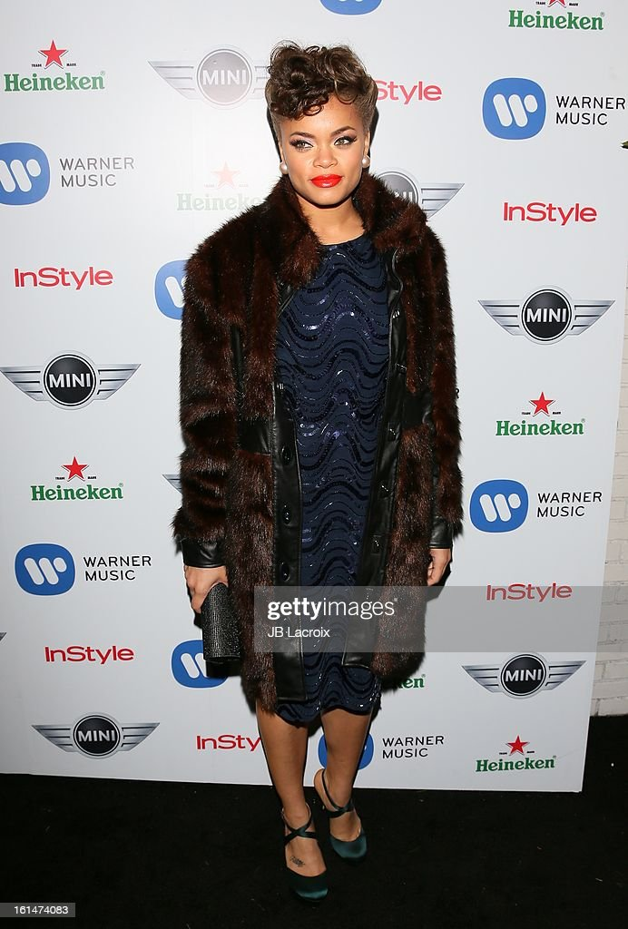 Andra Day attends the Warner Music Group 2013 Grammy Celebration Presented By Mini held at Chateau Marmont on February 10, 2013 in Los Angeles, California.