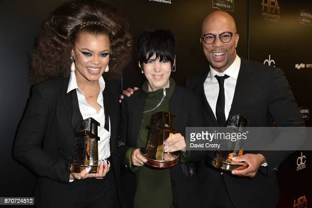 Andra Day Diane Warren and Common attend the 21st Annual Hollywood Film Awards Backstage on November 5 2017 in Beverly Hills California