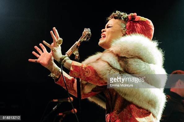 Andra Day perfoms onstage at the El Rey Theatre on March 30 2016 in Los Angeles California