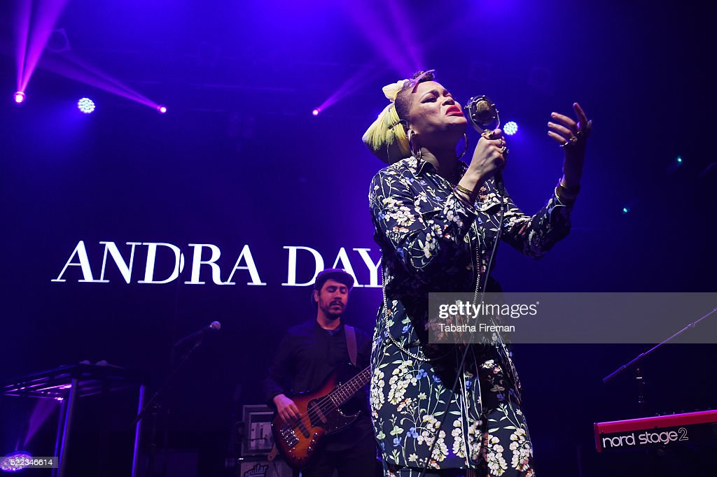 Andra Day performs on stage at the Mail Brands Opening Gig during Advertising Week Europe 2016 at KOKO on April 18 2016 in London England