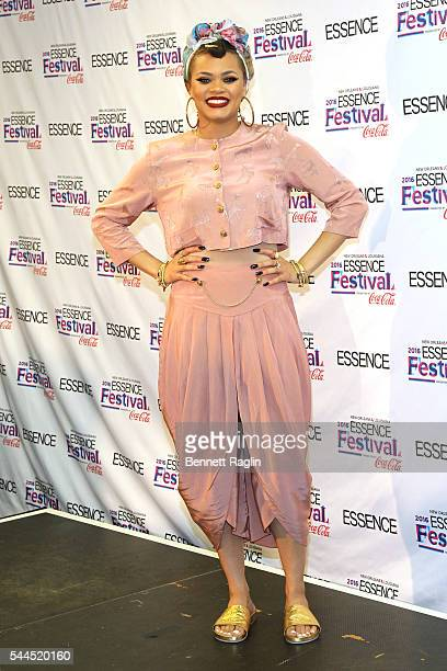 Andra day poses backstage at 2016 ESSENCE Festival Presented by Coca Cola at the Louisiana Superdome on July 3 2016 in New Orleans Louisiana