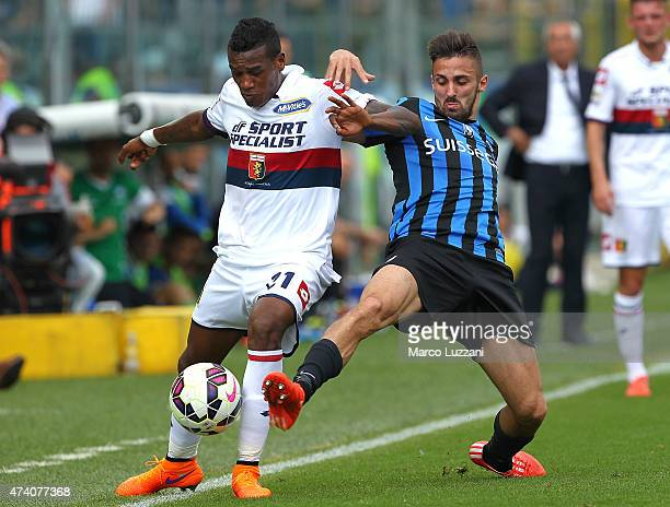 Andrade Edenilson of Genoa CFC competes for the ball with Marco D Alessandro of Atalanta BC during the Serie A match between Atalanta BC and Genoa...