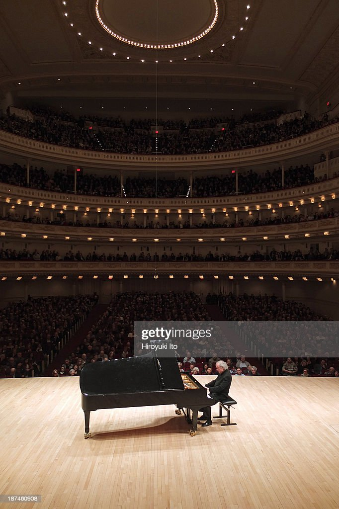 Andras Schiff performing the music of Bach and Beethoven at Carnegie Hall on Tuesday night November 5 2013