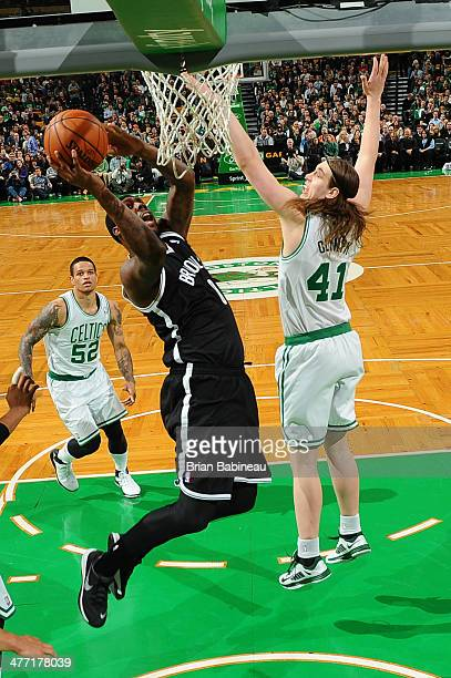 Andray Blatche of the Brooklyn Nets shoots against the Boston Celtics on March 7 2014 at the TD Garden in Boston Massachusetts NOTE TO USER User...