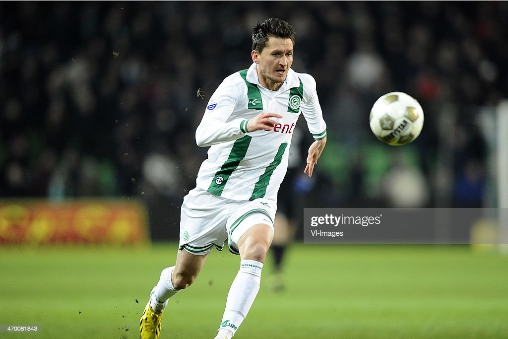 Andraz Kirm of FC Groningen, during the Dutch Eredivisie match between FC Groningen and RKC Waalwijk at the Euroborg on february 9, 2013 in Groningen, The Netherlands