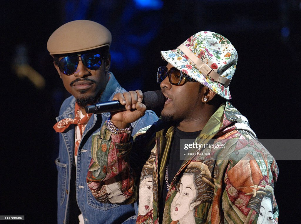 Andre 3000 and Big Boi during 2006 VH1 Hip Hop Honors Show at Hammerstein Ballroom in New York City New York United States