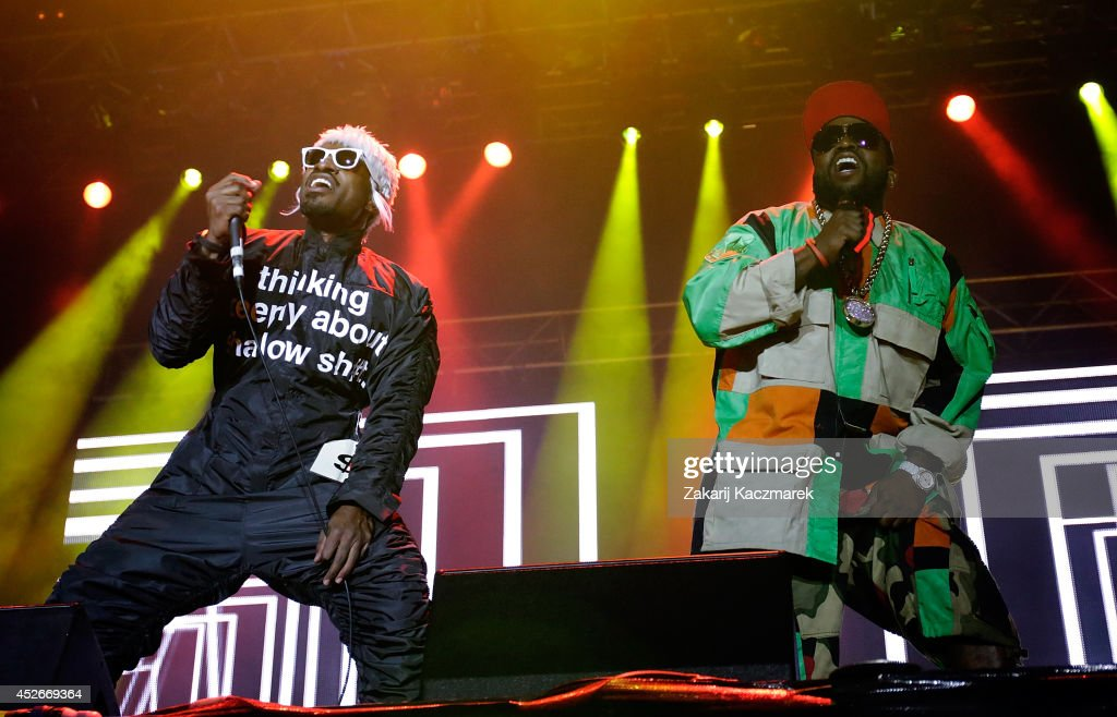 Andre 3000 and Big Boi of Outkast perform on stage at Splendour In the Grass 2014 on July 25, 2014 in Byron Bay, Australia.