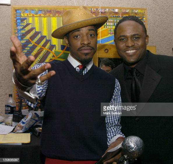 Andre 3000 and Wayne Brady in Backstage Creations Talent Retreat