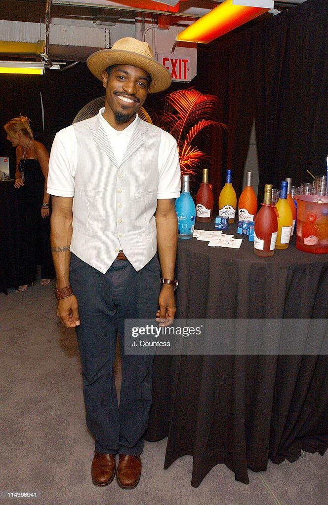 <a gi-track='captionPersonalityLinkClicked' href=/galleries/search?phrase=Andre+3000&family=editorial&specificpeople=220195 ng-click='$event.stopPropagation()'>Andre 3000</a> at the Alize Gift Station during Fashion Rocks Talent Gift Lounge Produced by On 3 Productions - Day 2 at Radio Music Hall in New York City, New York, United States.