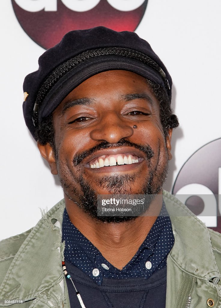 Andre 3000 attends the Disney/ABC 2016 Winter TCA Tour at Langham Hotel on January 9, 2016 in Pasadena, California.