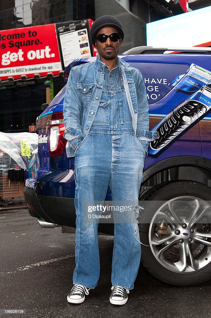 Andre 3000 attends the Gillette 'Movember' Event in Times Square on November 13, 2012 in New York City.